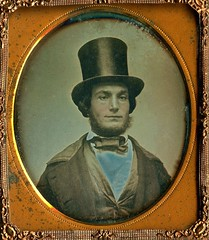 Dude with a Top Hat, Partly Solarized 1/6th-plate Daguerreotype, Circa 1849 (lisby1) Tags: portrait fashion century vintage photography early 19thcentury 1800s victorian tintype ambrotype daguerreotype geneology 19th earlyphotography nineteenthcentury