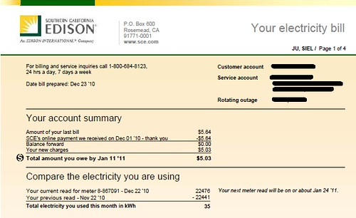 Electric Bill I ~ My electricity bill redux mnn mother nature network