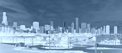 Chitown in Negative (Seth Oliver Photographic Art) Tags: chicago postprocessed buildings illinois nikon midwest skyscrapers searstower cityscapes lakemichigan trumptower southloop pinoy wbez chicagoskyline urbanscapes chicagoist d90 lakepointetower handheldshot urbanskylines lakefrontchicago setholiver1 18105mmnikkorlens willlistower negativetechnique museum1campus