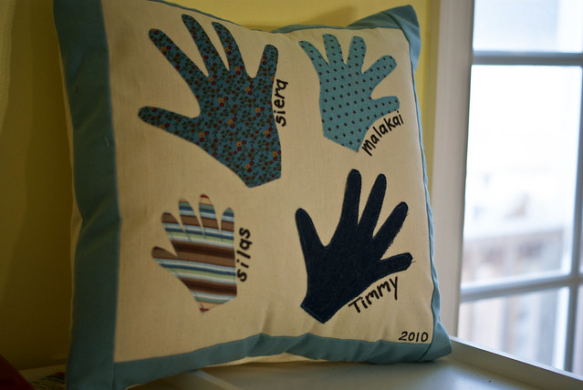 Grandparents Hand Pillow