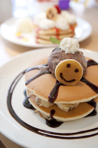 Banana Chocolate Pancakes, Pancake Days, Harajuku