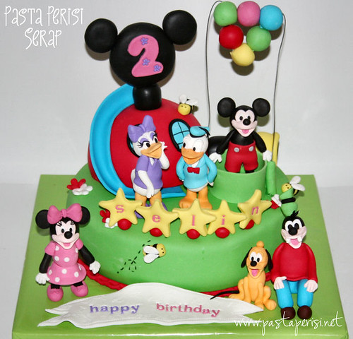 mickey mouse clup house pastası- selin1