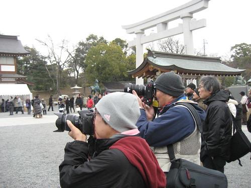 とんど 広島護国神社 2011画像 21