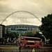 Al nostro arrivo, iniziamo ad intravedere lo stadio sotto un tipico cielo sereno londinese, poi...