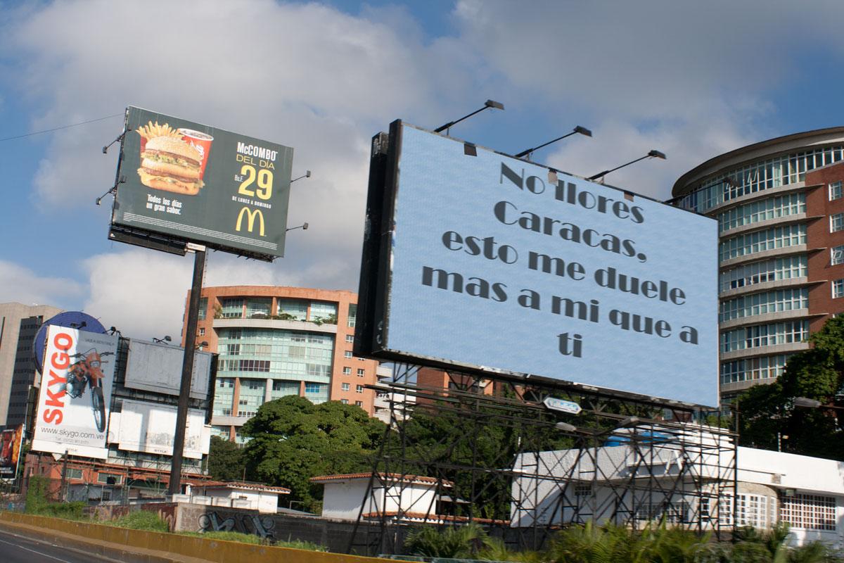 No llores Caracas