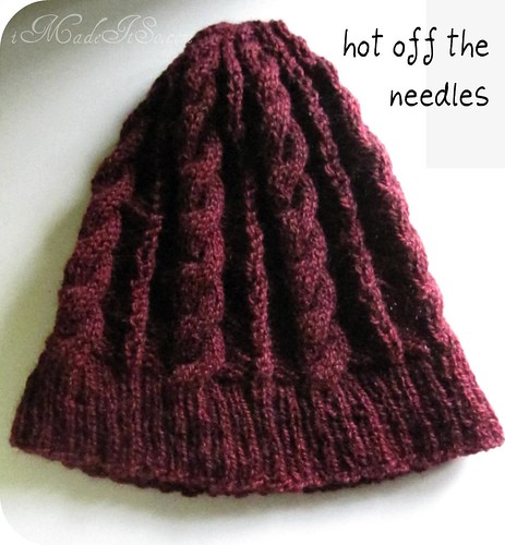 knit hat to be blocked