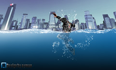 In the sea (ayman_ay17) Tags: city sea art by photoshop design graphic dive sinking designing ayman designed in