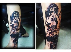 Tattoo Cover up (amazing Tattoo) Tags: tattoo 香港 星星 suntattoo 紋身 紋身圖案 女紋身師 女性圖案 文字紋身