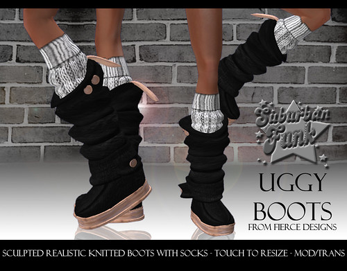 UGGY BOOTS BLACK