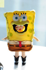 Spongebob Squarepants (Sai / Rebecca) Tags: topf25 smile face yellow asian happy costume nikon doll cartoon tiny shelly kelly bjd bodysuit pong fairyland spongebobsquarepants balljointeddoll puki pongpong ponyo d5000 pukipuki
