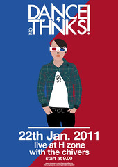 Flyer for Dance?Nothanks band (Riccardo Bergadano) Tags: blue red thanks poster 22 design dance 3d concert flyer punk graphic alba no january young style pop h illustrator vector zona zone gennaio sirmarcello riccardobergadano dancenothanks