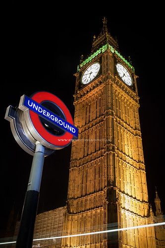 Big Ben - London Underground Sign