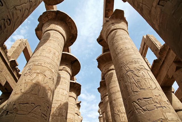 エジプト ルクソール カルナック神殿大列柱室