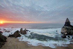 (t3mujin) Tags: sunset beach portugal rock coast europe sintra d300s