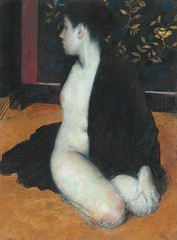 Half Draped Nude in Black