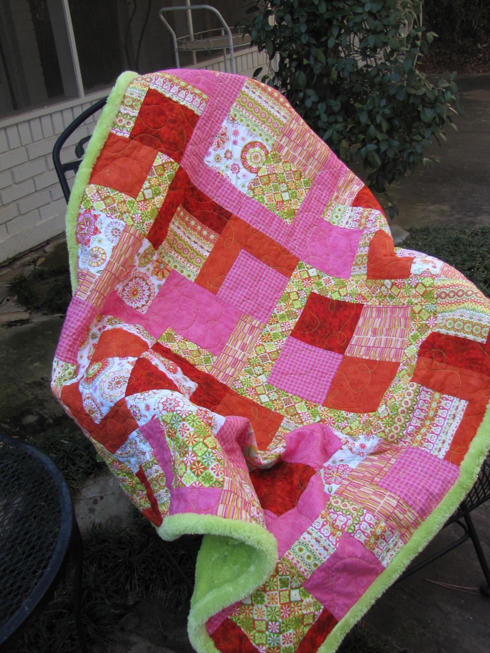 Child's Bright Snuggle Quilt