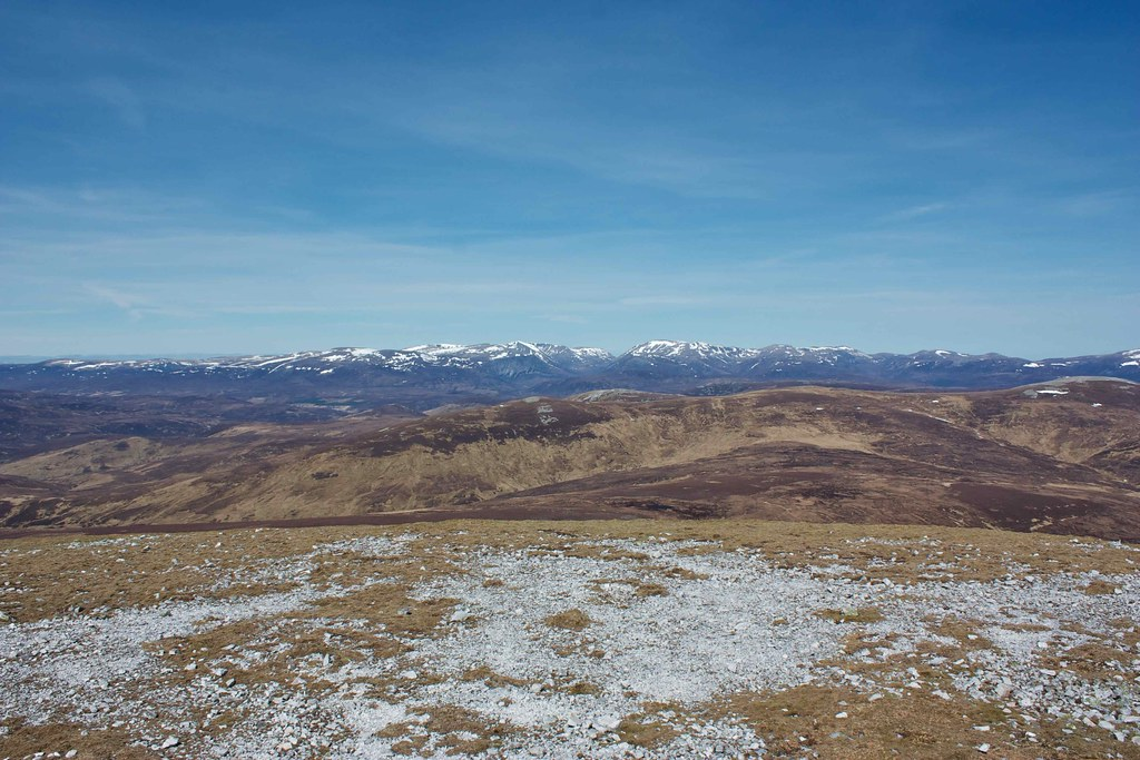 The Cairngorms from Beinn Iutharn Mhor