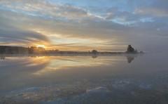 Foggy Sunrise (Jyrki Liikanen) Tags: foggy foggymorning coldmorning morningfog reflection waterreflection sunrise coldbluesunrise river riverside autumn northernbeauty finland finnishnature calm calmriver naturephotography nature beautifulnature