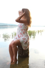 IMG_0948 (joshsagar) Tags: photoshoot pictures girl dress road smiles canon twirl golf course dab log water photography photos river arkansas central back roads sunset trees ar ark t5