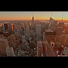 Top of the Rock (whc7294) Tags: nyc usa newyork rockefellercenter empirestatebuilding hdr topoftherock ニューヨーク photomatix ロックフェラーセンター 摩天楼 superhearts platinumheartaward nikond300 1424mmf28 エンパイアステイトビル トップオブザロック