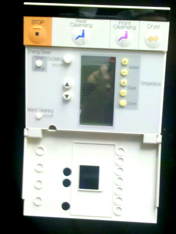 Electronic toilet operating panel