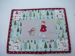 Winter Mug Rug (2mayboys) Tags: