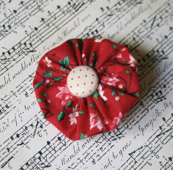 christmas poinsettia broach