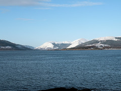 """There is still snow on """"them there hills""""(4252) (billyofbute) Tags: snow hills rothesay billyofbute"""