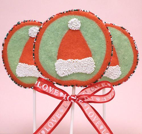 Santa Hat Picture Cookie Pops