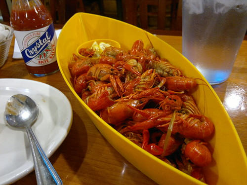 One Pound of Hot Spicy Louisiana Boiled Crawfish