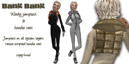 Bang Bang - Wooly jumpsuit & hoodie vest