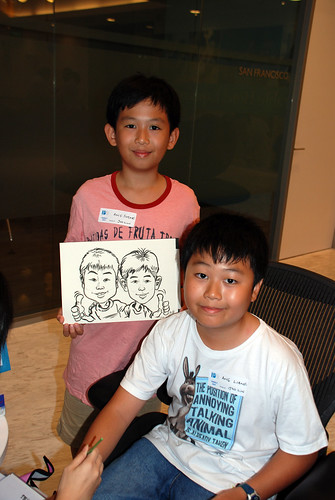 Caricature live sketching for Pan Pacific Hotels Group Family Day -8
