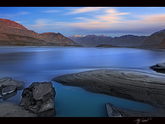 Indus... (M Atif Saeed) Tags: blue pakistan sunset mountain mountains nature water clouds landscape flow movement explore filter areas northern northernareas frontpage slowmotion skardu atifsaeed gettyimagespakistanq1