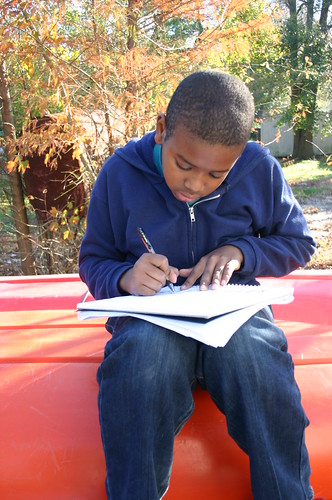 Tyrek's Science Fair 2010 - Taking Notes From Front