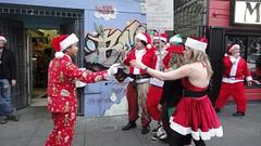 SantaCon 2010 Boycott Santa Protest
