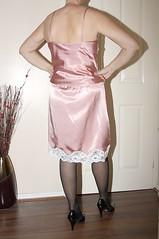 slip and matching cami top (sheerglamour) Tags: stockings fetish mac plastic heels satin cami nylon pvc slips