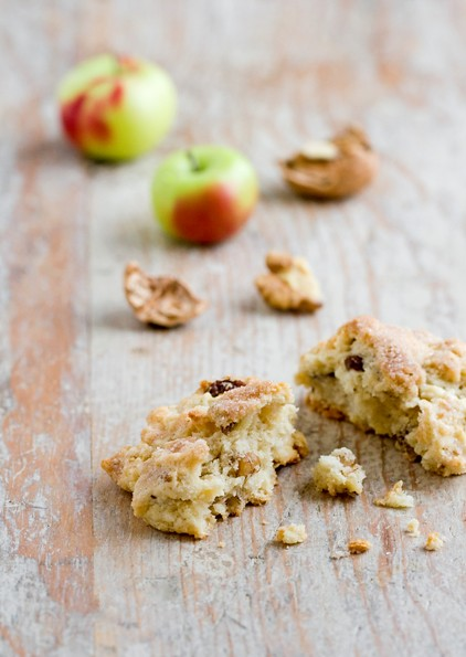 Walnut, Apple and Raisin Scones