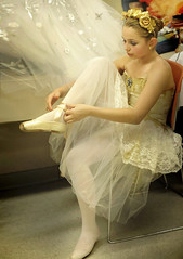 slipper (Rick Elkins) Tags: ballet girl ballerina bravo candid dancer dressing dressingroom backstage slipper preparation tutu absolutegoldenmasterpiece