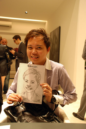 Portrait & Caricature live sketching for Molteni & C - 13