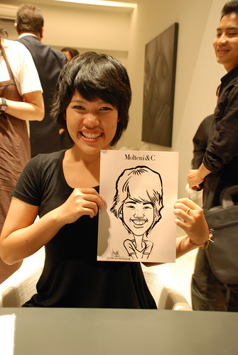 Portrait & Caricature live sketching for Molteni & C - 14