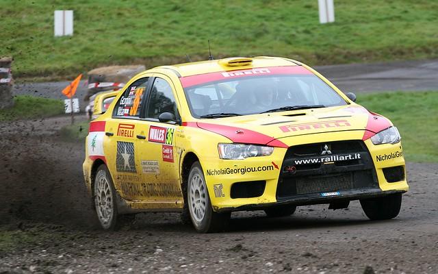 Nick Georgiou - Mitsubishi Lancer Evo X : Margam Park Stage WRC Wales Rally GB 2010