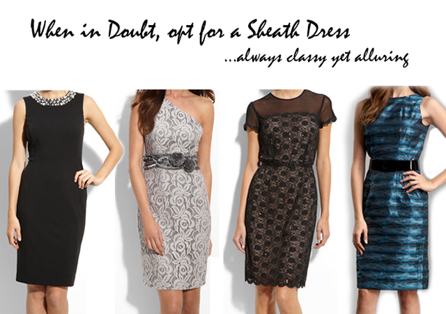 sheath holiday dresses