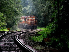 Negotiating a curve !!! (Jay fotografia) Tags: railroad india tourism trekking goa karnataka alco indianrailways dudhsagar irfca dudhsagarwaterfalls doodhsagar braganzaghats jayasankarmadhavadas
