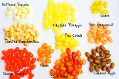 Orange and Yellow Jelly Belly Beans