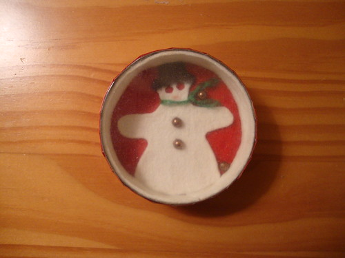 Grandmom craft:  snowman game