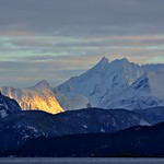 Late evening sunshine between Romsdalen mountains