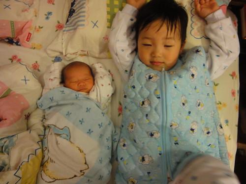 楊辰辰與妹妹