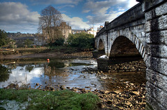 Totnes Bridge (rosyrosie2009) Tags: uk winter england water reflections photography flickr photos explore frontpage hdr riverdart photomatix tonemapped nikkor1855mm flickrduel devonandcornwall rosiesphotos nikkor1855mmf3556gvr nikond5000 rosiespooner rosyrosie2009 totnesbridge rosemaryspooner rosiespoonerphotography