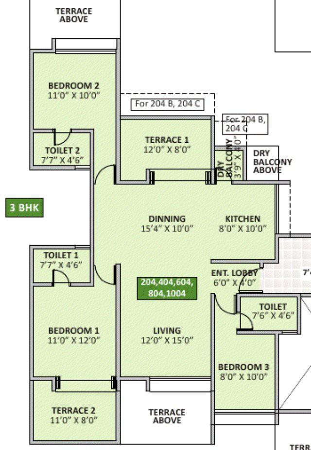 eva bavdhan 3 bhk flat
