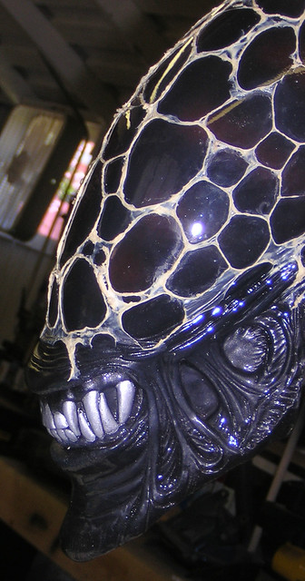 Alien head with lace 003